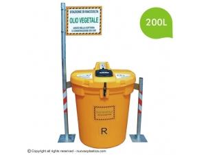 Olivia 200L Ulična posoda za zbiranje odpadnega jedilnega olja